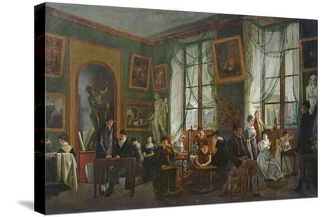 The Studio of Madame Haudebourt-Lescot-Joseph Albrier-Stretched Canvas Print