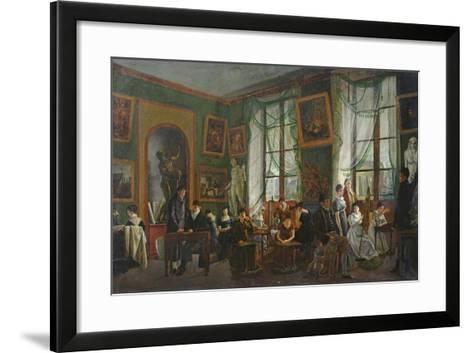 The Studio of Madame Haudebourt-Lescot-Joseph Albrier-Framed Art Print