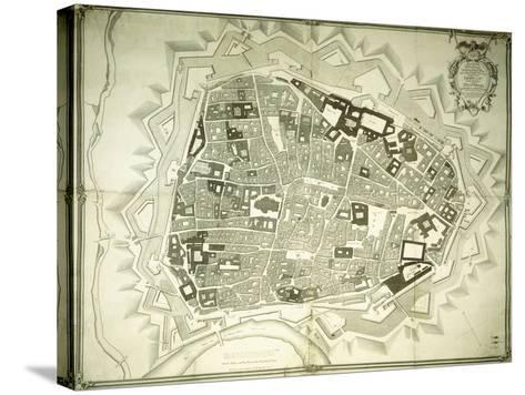 An Engraved Plan of Vienna, 1770-Joseph Anton Nagel-Stretched Canvas Print