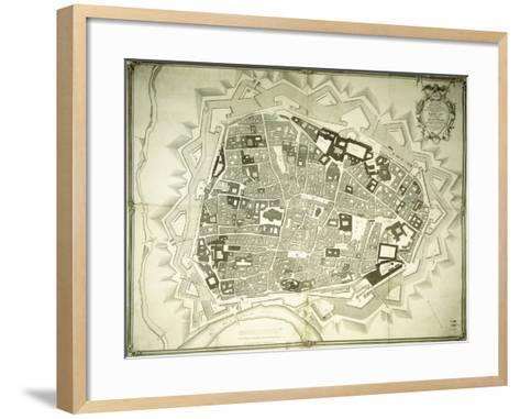 An Engraved Plan of Vienna, 1770-Joseph Anton Nagel-Framed Art Print