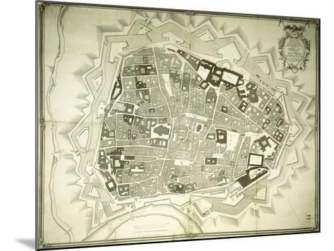 An Engraved Plan of Vienna, 1770-Joseph Anton Nagel-Mounted Giclee Print