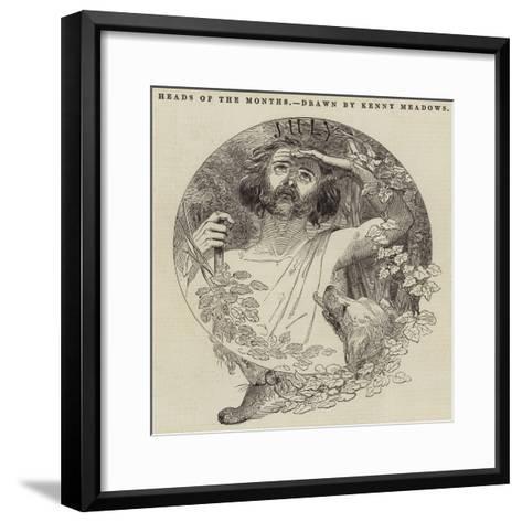 Heads of the Months-Joseph Kenny Meadows-Framed Art Print