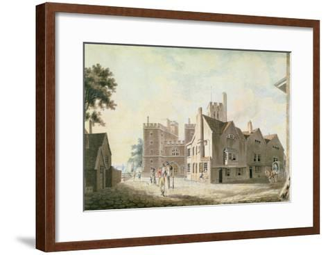 A View of the Archbishop's Palace, Lambeth, 1790-J^ M^ W^ Turner-Framed Art Print