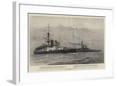 The Loss of HMS Victoria, the Twin-Screw First-Class Battleships HMS Camperdown and HMS Victoria-Joseph Nash-Framed Art Print