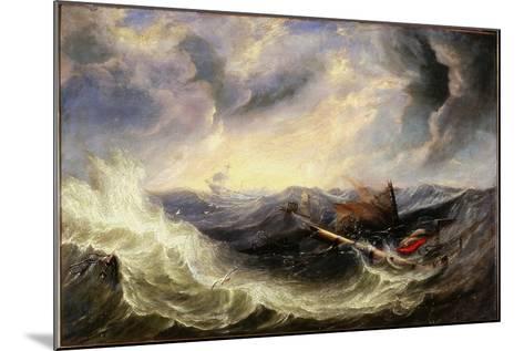 Seascape with Wreckage-John Wilson Carmichael-Mounted Giclee Print
