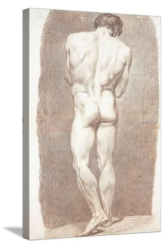 Study of a Male Nude, Seen from Behind, 1774-Joseph Benoit Suvee-Stretched Canvas Print
