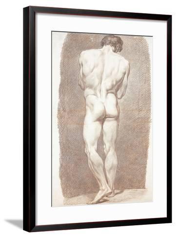 Study of a Male Nude, Seen from Behind, 1774-Joseph Benoit Suvee-Framed Art Print