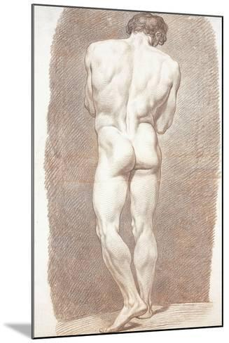 Study of a Male Nude, Seen from Behind, 1774-Joseph Benoit Suvee-Mounted Giclee Print