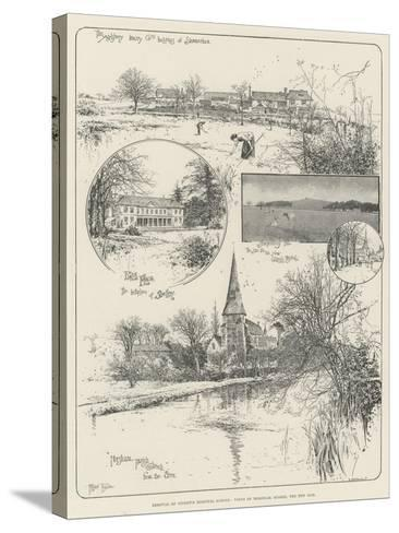 Removal of Christ's Hospital School, Views of Horsham, Sussex, the New Site-Joseph Holland Tringham-Stretched Canvas Print