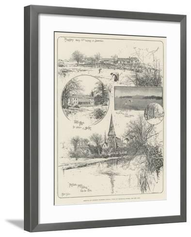 Removal of Christ's Hospital School, Views of Horsham, Sussex, the New Site-Joseph Holland Tringham-Framed Art Print
