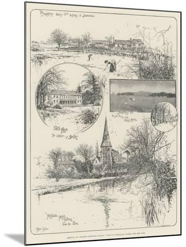 Removal of Christ's Hospital School, Views of Horsham, Sussex, the New Site-Joseph Holland Tringham-Mounted Giclee Print