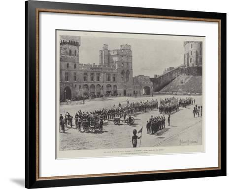 The Naval Brigade of HMS Powerful at Windsor, Three Cheers for the Queen!-Joseph Holland Tringham-Framed Art Print