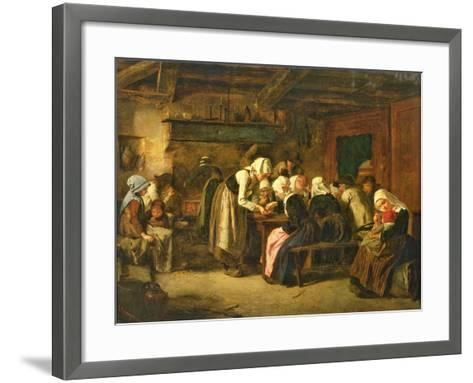 The Crepe Seller on Market Day in Quimperle-Jules Trayer-Framed Art Print