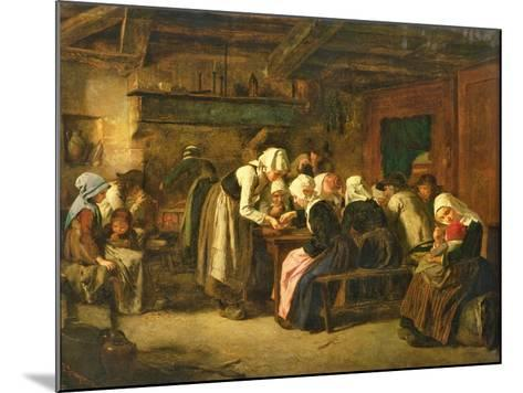 The Crepe Seller on Market Day in Quimperle-Jules Trayer-Mounted Giclee Print