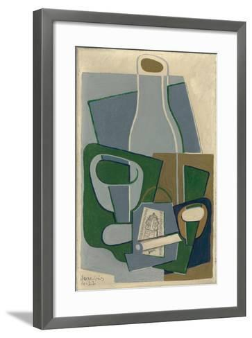 Pipe Et Paquet De Tabac, 1922-Juan Gris-Framed Art Print