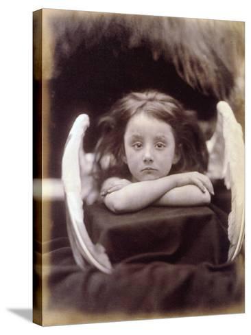 I Wait (Rachel Gurney as an Angel), 1872-Julia Margaret Cameron-Stretched Canvas Print