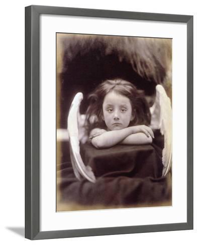 I Wait (Rachel Gurney as an Angel), 1872-Julia Margaret Cameron-Framed Art Print