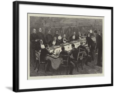Monotony at Sea, Ring Spoof on Board a Man-O'-War-Joseph Nash-Framed Art Print
