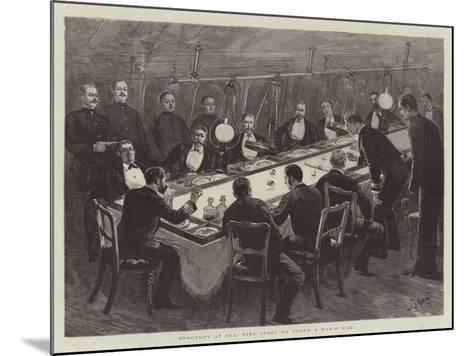 Monotony at Sea, Ring Spoof on Board a Man-O'-War-Joseph Nash-Mounted Giclee Print