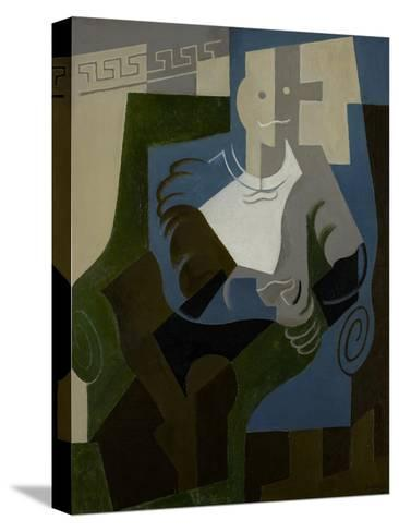 Seated Harlequin, C.1920-Juan Gris-Stretched Canvas Print