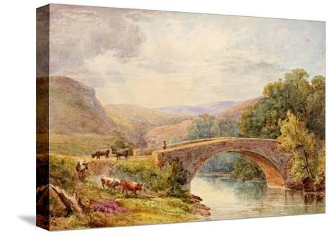 Lewisburn Bridge, North Tyne-Julia Swinburne-Stretched Canvas Print