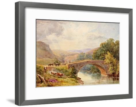 Lewisburn Bridge, North Tyne-Julia Swinburne-Framed Art Print