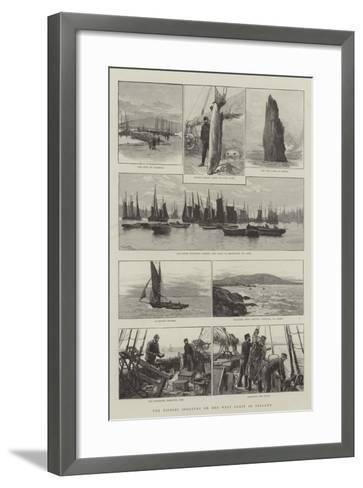The Fishing Industry on the West Coast of Ireland-Joseph Nash-Framed Art Print