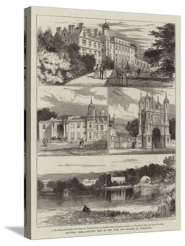 Eastwell Park, Country Seat of the Duke and Duchess of Edinburgh-Joseph Nash-Stretched Canvas Print