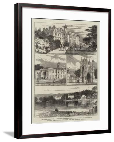 Eastwell Park, Country Seat of the Duke and Duchess of Edinburgh-Joseph Nash-Framed Art Print