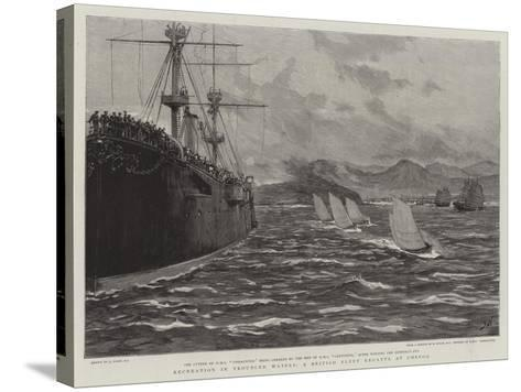 Recreation in Troubled Waters, a British Fleet Regatta at Chefoo-Joseph Nash-Stretched Canvas Print