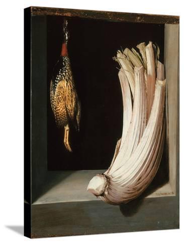 Bodegón with a Cardoon and Francolin-Juan Sanchez Cotan-Stretched Canvas Print