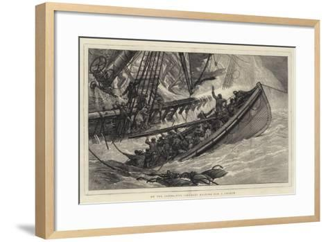 On the Sands, the Lifeboat Waiting for a Chance-Joseph Nash-Framed Art Print