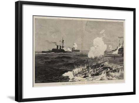 The Naval Manoeuvres, the Engagement Off Ushant-Joseph Nash-Framed Art Print