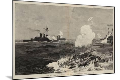 The Naval Manoeuvres, the Engagement Off Ushant-Joseph Nash-Mounted Giclee Print