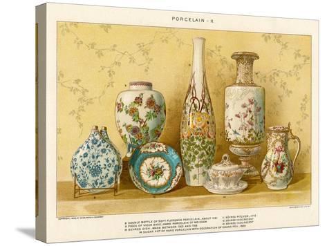European Porcelains by Julius Bien, C.1880-Julius Bien-Stretched Canvas Print