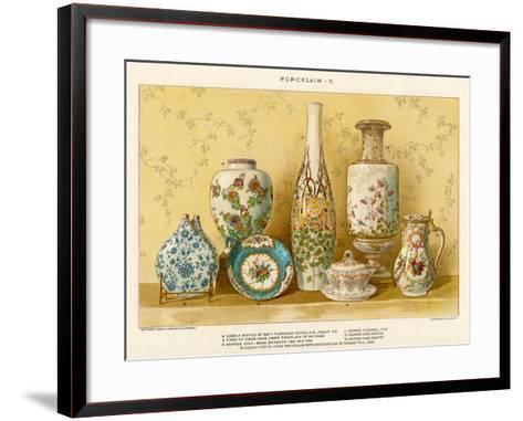 European Porcelains by Julius Bien, C.1880-Julius Bien-Framed Art Print