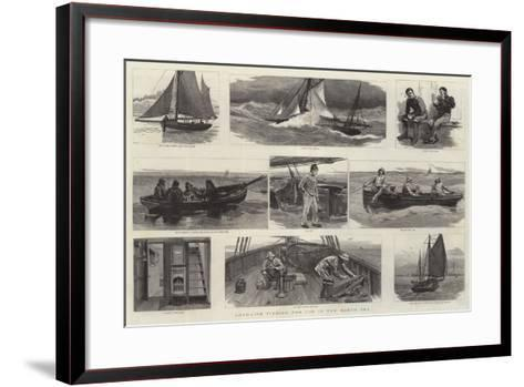 Long-Line Fishing for Cod in the North Sea-Joseph Nash-Framed Art Print
