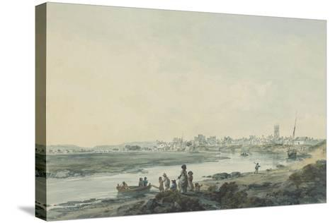 Cardiff from the South, C.1789-Julius Caesar Ibbetson-Stretched Canvas Print