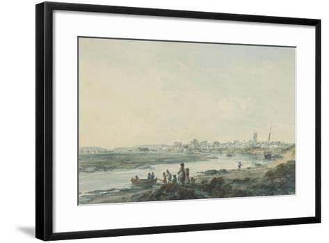 Cardiff from the South, C.1789-Julius Caesar Ibbetson-Framed Art Print
