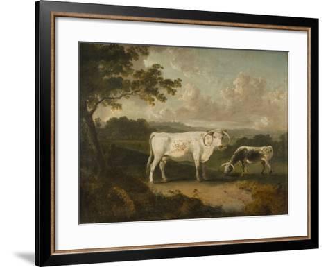 Kenwood, Lord Mansfield's Pedigree Cattle, 1797-Julius Caesar Ibbetson-Framed Art Print