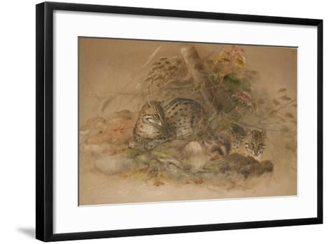 Clouded Leopard (Fleis Macrocelis)-Joseph Wolf-Framed Art Print