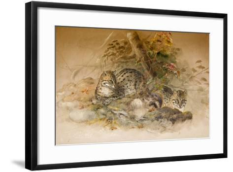 Wagati Cat, 1851-69-Joseph Wolf-Framed Art Print