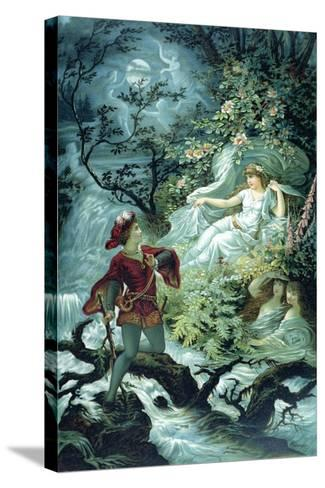 The Knight Hulbrand with Undine for the Tale 'Undine' by Baron De La Motte Fouque, 1909-Julius Hoeppner-Stretched Canvas Print