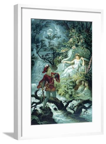 The Knight Hulbrand with Undine for the Tale 'Undine' by Baron De La Motte Fouque, 1909-Julius Hoeppner-Framed Art Print