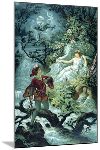 The Knight Hulbrand with Undine for the Tale 'Undine' by Baron De La Motte Fouque, 1909-Julius Hoeppner-Mounted Giclee Print