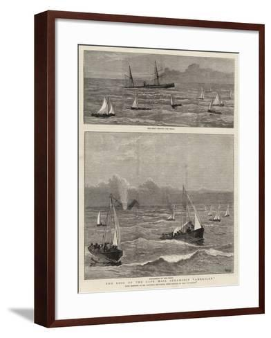 The Loss of the Cape Mail Steamship American-Joseph Nash-Framed Art Print