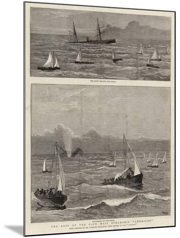 The Loss of the Cape Mail Steamship American-Joseph Nash-Mounted Giclee Print