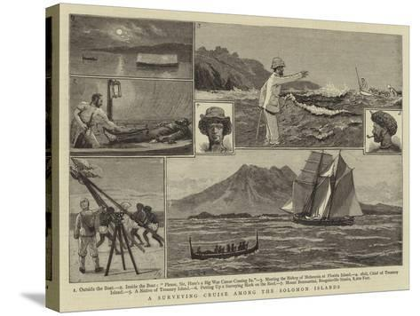 A Surveying Cruise Among the Solomon Islands-Joseph Nash-Stretched Canvas Print