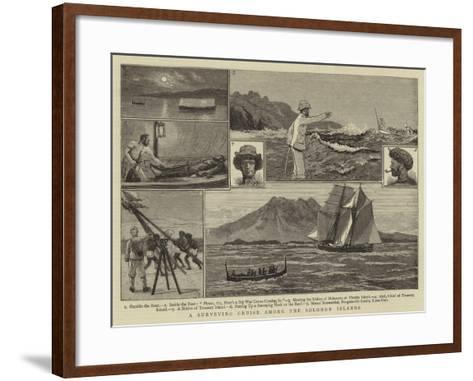 A Surveying Cruise Among the Solomon Islands-Joseph Nash-Framed Art Print