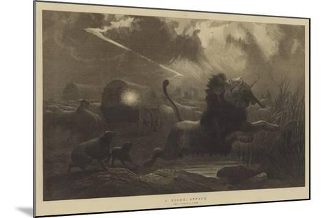 A Night Attack-Joseph Wolf-Mounted Giclee Print